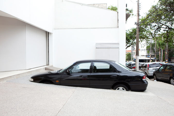 Parking Space, 2012Automobile and cement,150 x 300 x 500 cm                                              Photo: Everton Ballardin