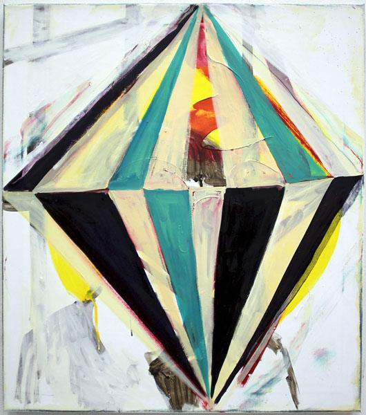 Hansjoerg Dobliar,Circus II (tête de femme), 2012Oil on canvas, 80 x 70 cm