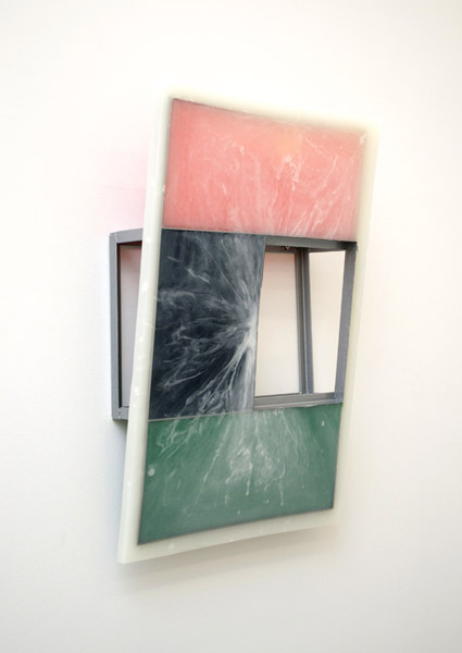 Jesse A. Greenberg,  C-Slope, 2013 Urethane plastic, pigment, steel, spray-paint,  30 x 20 x 6 in