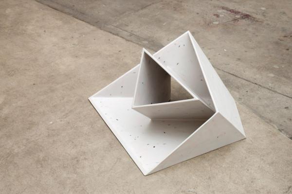 Knee Deep, 1988-89 Fiberglass, paint over cardboard 15 x 31 x 25.5 inches