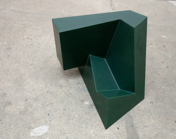 Under Foot, 1987 Epoxy resin, fiberglass, paint over foam core 18 x 25 x 22 inches