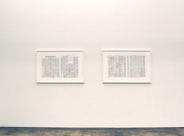 Kevin Simon Mancera,  January 16, 2014 (Detail) Ink on Paper,  2 double-sided sheets, each: 22 x 38 inches (56 x 96.5 cm)