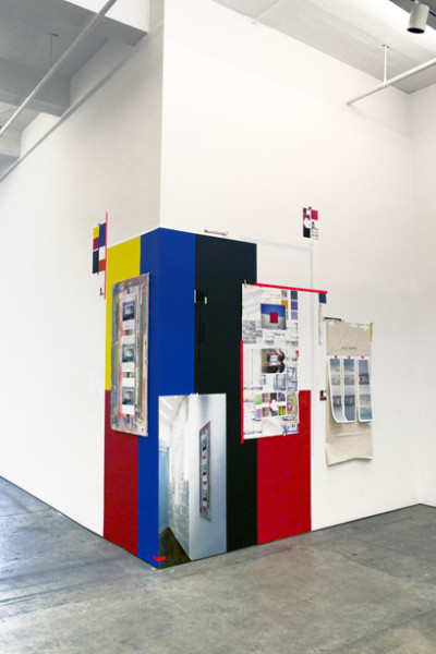 Franklin Evans,  september 2009 to june 2014,  Wall paint, with digital prints and painting on gypsum board 112 x 140 inches (284.48 x 355.60 cm)