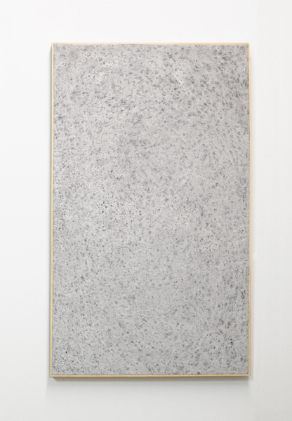 Jessica Sanders,  Crumple A18, 2014 Beeswax on stretched linen with artists frame. 52.5 x 31.5 inches (133 x 80 cm)