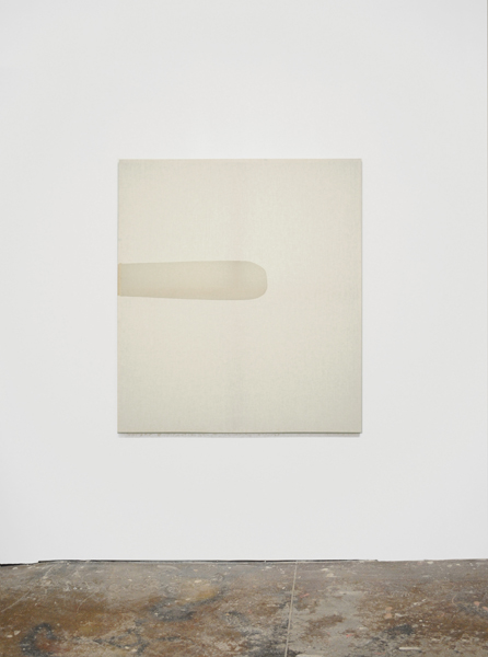 Jessica Sanders,  Saturation A51, 2014 Beeswax on stretched linen.  59.5 x 53 inches (142 x 127 cm)