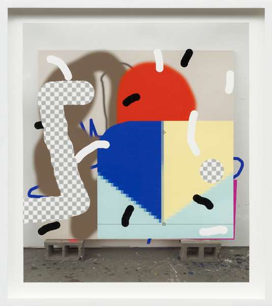 Trudy Benson Painting After Painting 1, 2013 Archival pigment print,  16 x 14 inches (40.64 x 35.56 cm), Photo credit: Mark Woods