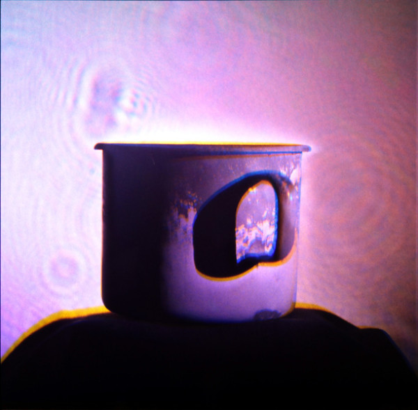 Matthew Schreiber and Daniel Newman, The Mug of Aleister Crowley, 2014Hologram, 11 x 11 inches (27.94 x 27.94 cm)