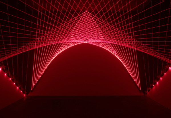 Matthew Schreiber,GateKeeper, 2014Laser diode modules, Dimensions variable
