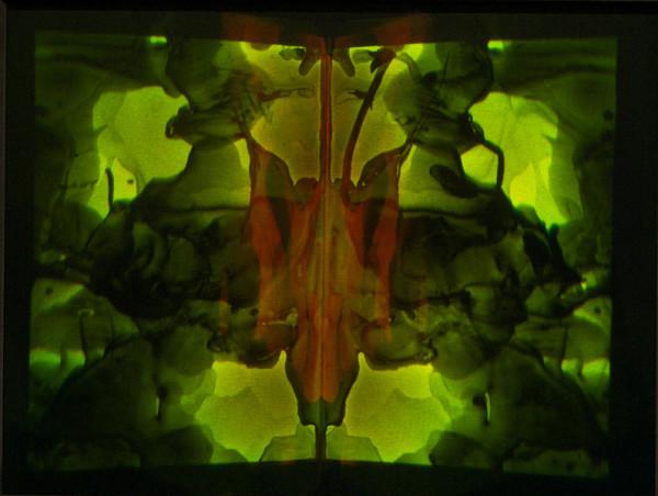 Matthew Schreiber, Holographic Klecksogram 2, 2012Hologram, 6.5 x 8 inches (16.51 x 20.32 cm)