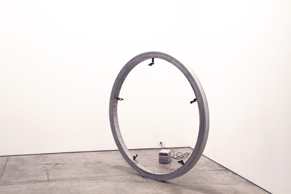 Matthew Schreiber, Infrared Pentagram, 2014Laser diode modules, ø 58 inches (ø 147.32 cm)