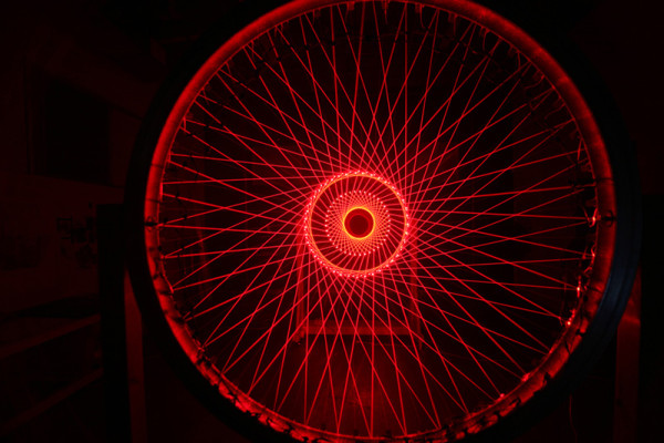 Matthew Schreiber, Triple Ring, 2011 Laser diode modules, Dimensions variable