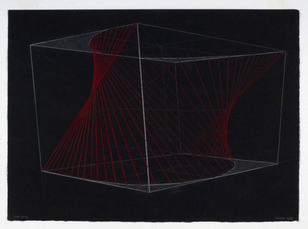 Matthew Schreiber, Laser Drawing, 2008 Pastel on paper, 22 x 30 inches (56 x 76 cm)
