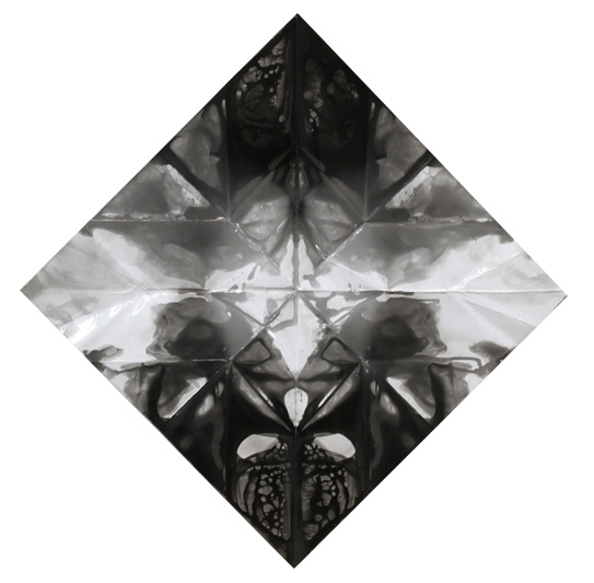 Origami Dove, 2011 Black and White Photogram, 46 x 46 inches (116.5 x 116.5 cm)