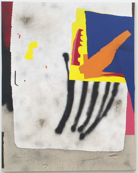 Dustin Pevey, Untitled, 2014Acrylic, spray paint, graphite, dirt on canvas, 76 x 60 inches (193.04 x 152.40 cm)