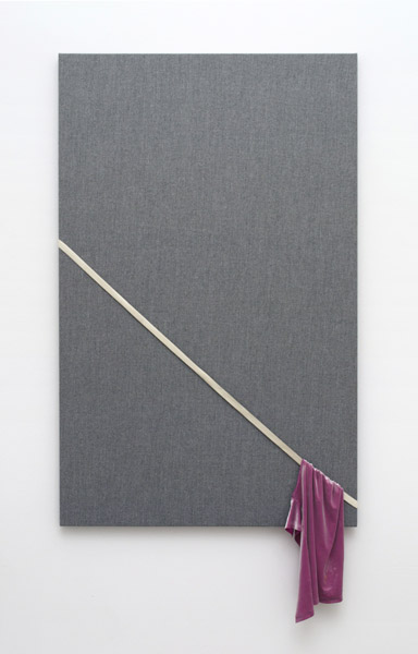 Donna Huanca, Grey Gardens, 2014 Textiles, elastic on wood frame, 68 x 36.9 inches (173.00 x 93.68 cm)