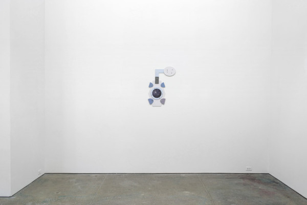 Jasper Spicero, Untitled, 2014 Laser cut wood, paint, hardware, photographic print, 28.88 x 19.6 inches (73.36 x 49.78 cm)