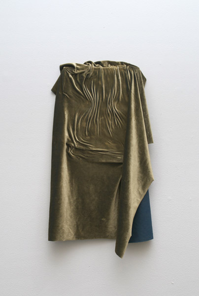 Donna Huanca, BOTOX, 2014Velvet on canvas, 20 x 12 x 3.5 inches, (50.80 x 30.48 x 8.89 cm)