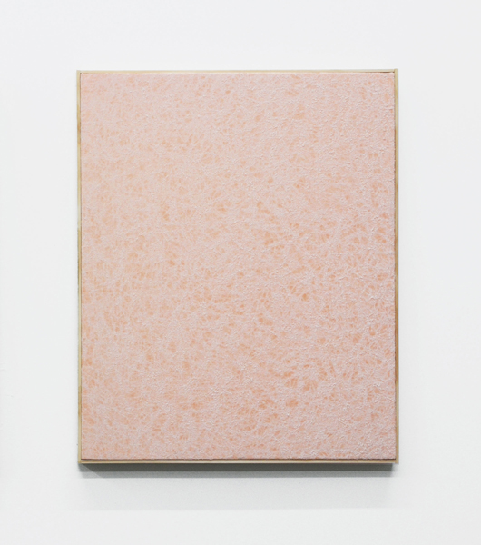 Jessica Sanders, Crumple A44, 2014 Beeswax on stretched linen with artist frame, 26.75 x 21.5 inches (67.95 x 54.61 cm)