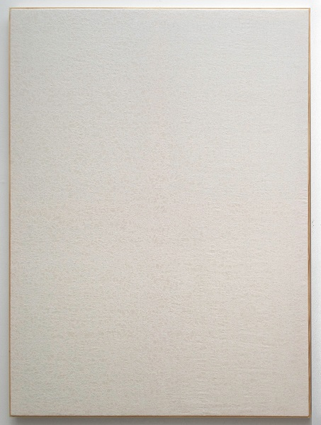 Jessica Sanders, Crumple A50, 2014 Beeswax on stretched linen with artist frame, 57.5 x 42.5 inches (146.05 x 107.95 cm)
