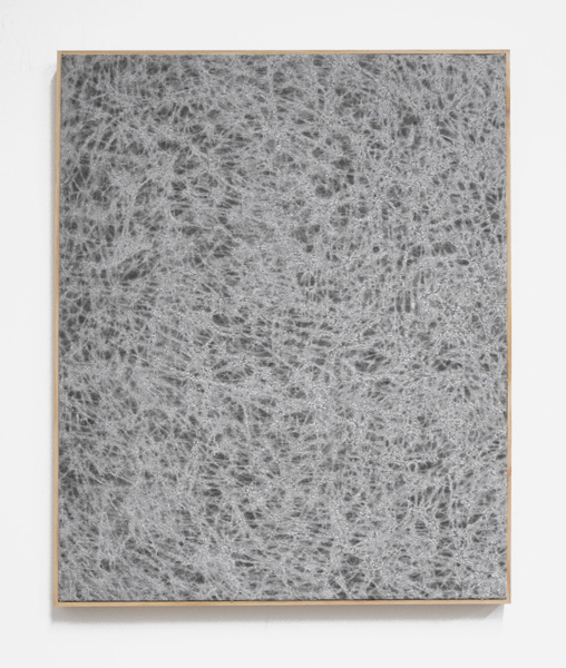 Jessica Sanders, Crumple A60, 2014 Beeswax on stretched linen with artist frame, 26.75 x 21.5 inches (67.95 x 54.61 cm)