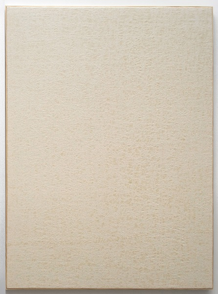 Jessica Sanders, Crumple A63, 2014 Beeswax on stretched linen with artist frame, 57.5 x 42.5 inches (146.05 x 107.95 cm)