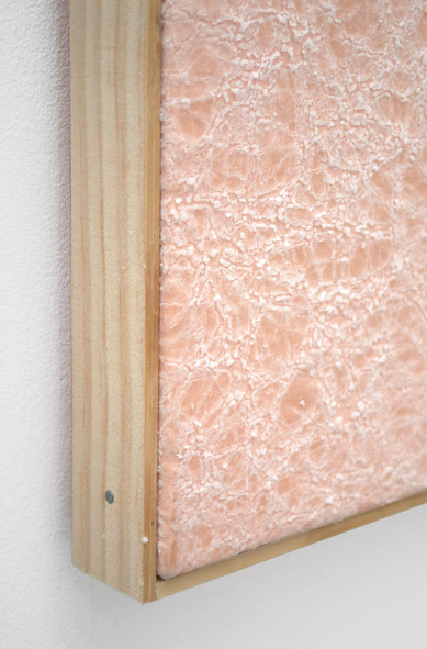 Jessica Sanders, Crumple A44(detail), 2014 Beeswax on stretched linen with artist frame, 26.75 x 21.5 inches (67.95 x 54.61 cm)