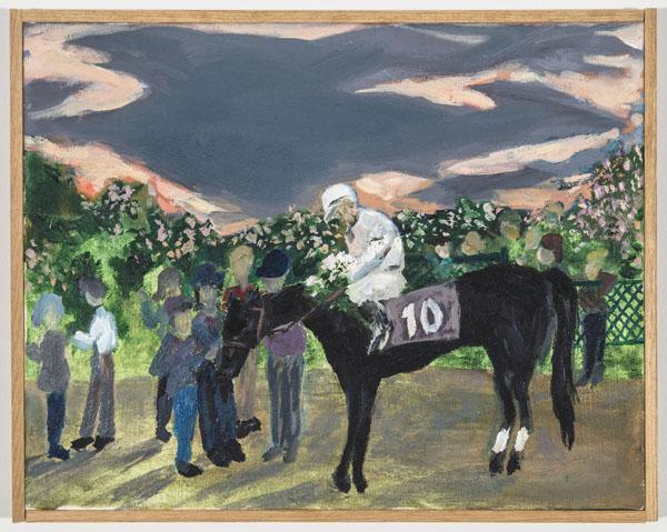 Larissa Lockshin, Winner's Circle (II), 2015,Oil on canvas, 11 x 14 inches (27.94 x 35.56 cm)