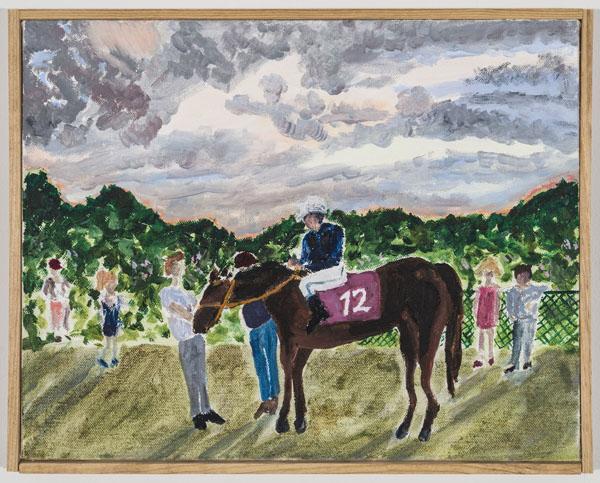 Larissa Lockshin, Winner's Circle (III), 2015 Oil on canvas, 11 x 14 inches (27.94 x 35.56 cm)