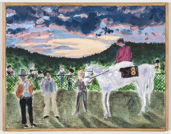 Larissa Lockshin, Winner's Circle (IV), 2015 Oil on canvas, 11 x 14 inches (27.94 x 35.56 cm)