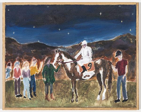 Larissa Lockshin, Winner's Circle (V), 2015 Oil on canvas 11 x 14 inches (27.94 x 35.56 cm)