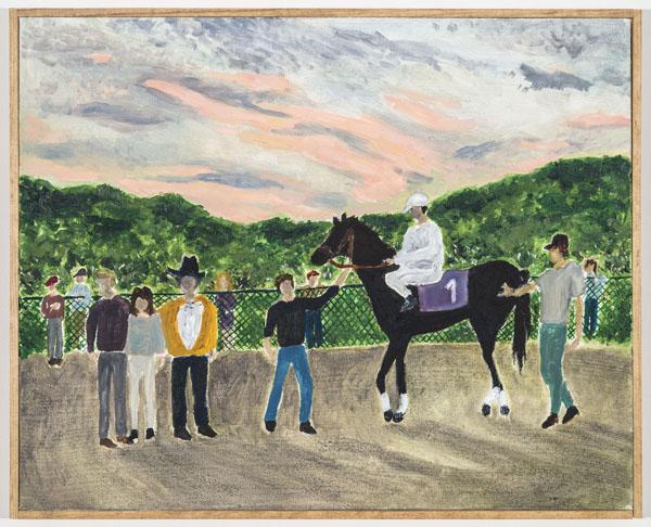 Larissa Lockshin, Winner's Circle (V), 2015,Oil on canvas, 11 x 14 inches (27.94 x 35.56 cm)