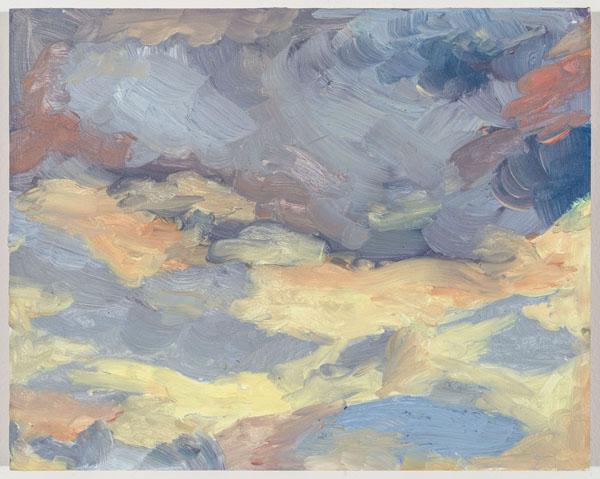 Larissa Lockshin, Study, 2015 Oil on board, 8 x 10 inches (20.32 x 25.40 cm)