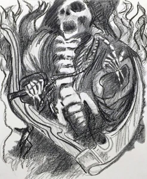 Chelsea Culp, Rich Man, Poor Man, Beggar, Thief, 2014  Graphite, charcoal on paper, 17.25 x 14.25 inches (43.82 x 36.20 cm)