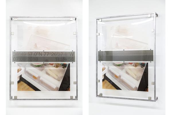 Derek Frech, Laelene: Centreville, Virginia, 2015 Steel, rubber, UV cured print on acrylic, 64 x 52 x 8 inches (162.56 x 132.08 x 20.32 cm)