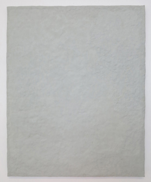 Nick Fusaro, Untitled (gray canvas), 2015   Epoxy resin, wood, 32 x 40 inches (81.28 x 101.60 cm)
