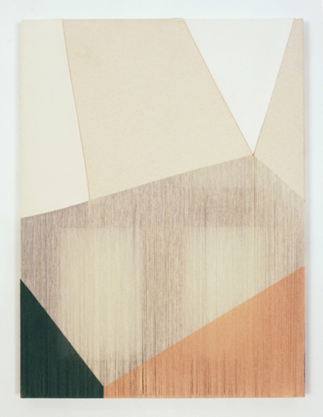 Rebecca Ward, Lilt, 2015 Acrylic on stitched canvas, 24 x 18 inches (60.96 x 45.72 cm)