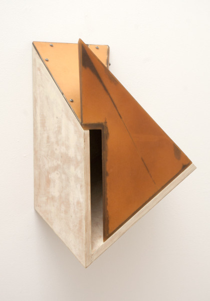 Jealous Monk, 1988Polyester resin, cardboard, plywood, screws, 23 x 10 x 9 inches (58.42 x 25.40 x 22.86 cm)