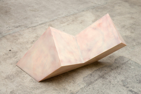 Mrs. Turpin's Pig, 1987Epoxy resin, fiberglass, paint over foam core, 20 x 46 x 19 inches (50.80 x 116.84 x 48.26 cm)