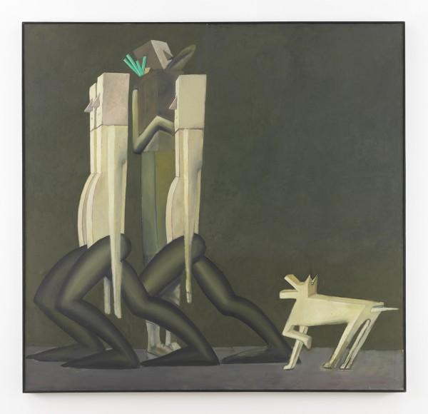 Mernet Larsen, Street Scene, 1984 Oil on canvas, 58 x 60 inches (147.32 x 152.40 cm)