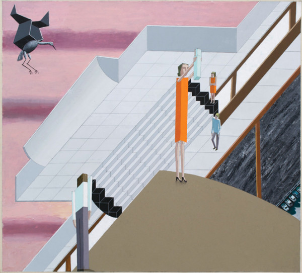 Mernet Larsen, Mall Event, 2010Acrylic and mixed media on canvas, 50 x 55 inches (127 x 140 cm)