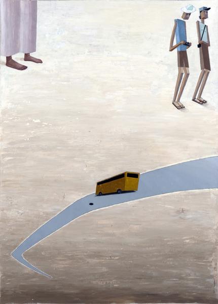 Mernet Larsen, Flat Tire, 2010 Acrylic on canvas , 60 x 43 inches (152.40 x 109.22 cm)