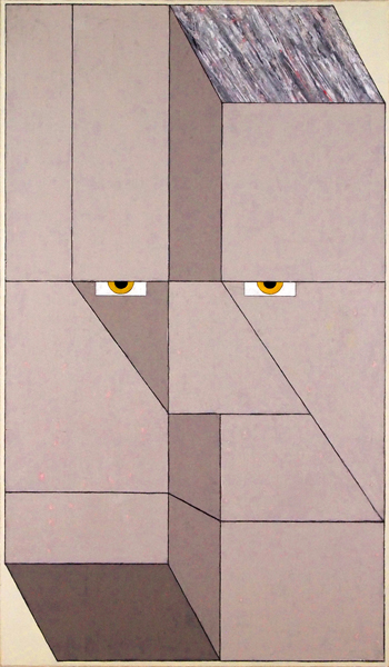 Mernet Larsen, Disagreement, 2011Acrylic on canvas, 41 x 24 inches (104.14 x 60.96 cm)