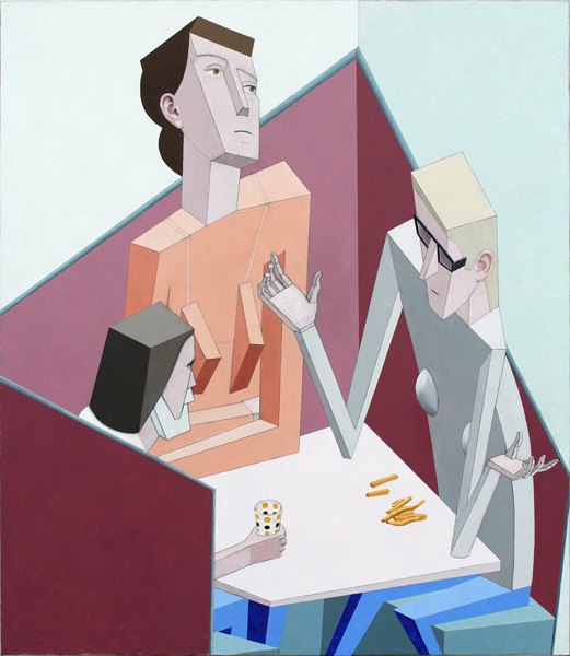 Mernet Larsen, Booth, 2012Acrylic on canvas, 55.75 x 48 inches (141.61 x 121.92 cm)