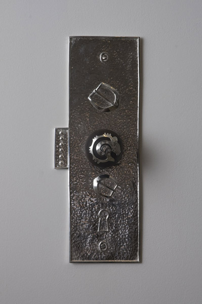 Travis Boyer, Jaguar door knob 1, 2012Sterling Silver and wood, 16 x 5 inches (40.64 x 12.70 cm)