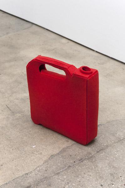 Johanna Unzueta, Gas Can, 2012Felt and thread, 12 x 12 x 3 inches