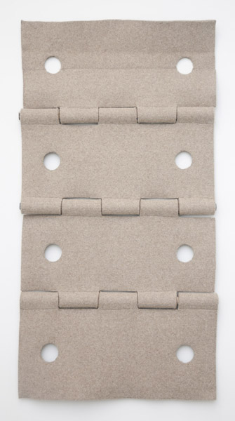 Johanna Unzueta, Hinge, 2012Felt and thread, Dimensions variable