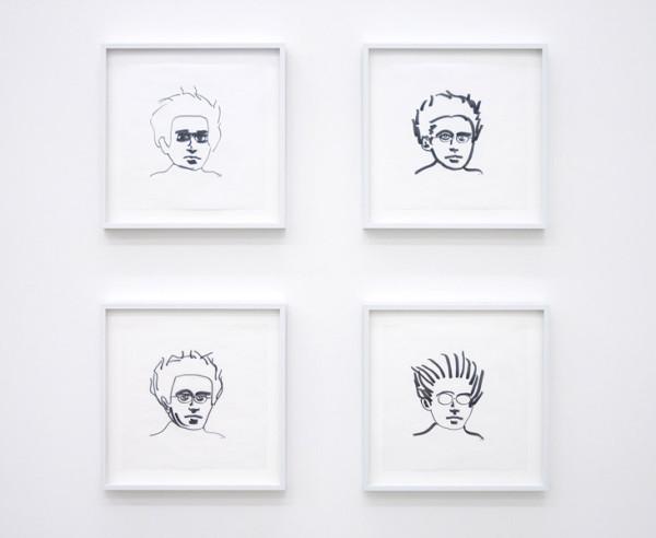 Alfredo Jaar, Gramsci, 2010 Ink on vellum