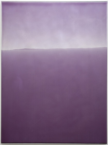 Zach Storm, Horizon 1, 2013 pigment and urethane on aluminum, 48 x 36 inches