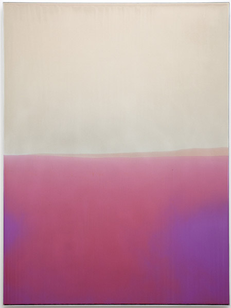 Zach Storm, Horizon 2, 2013 automotive primer, pigment, and urethane on aluminum, 48 x 36 inches