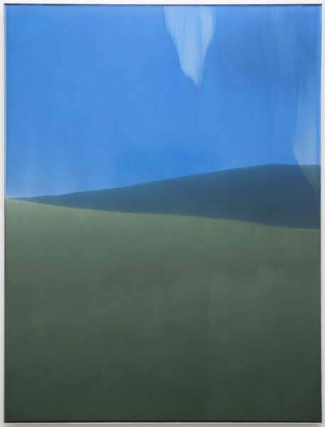 Zach Storm, Horizon 3, 2013 automotive primer, pigment, and urethane on aluminum, 48 x 36 inches